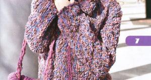 Фиолетовый жакет, сумочка и шапочка Лоск