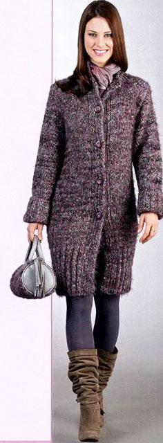 Сиреневое пальто Гламур