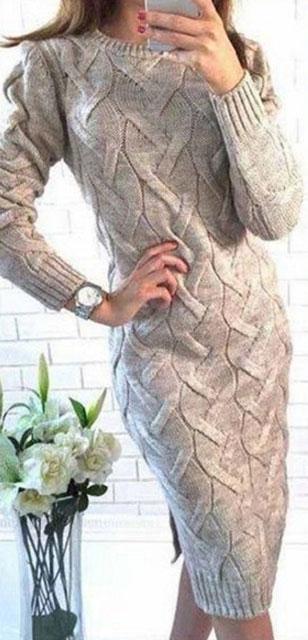 Платье с узором Косы