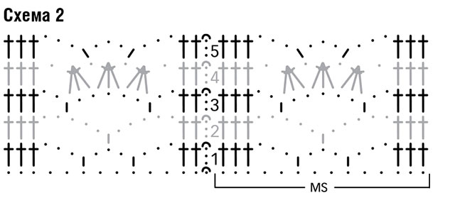 Схема кружевного узора