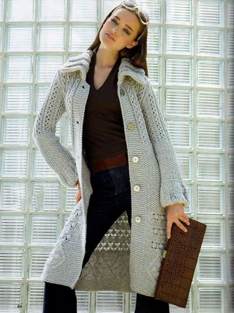 Связанное пальто