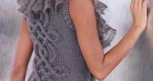 Узор на спинке жилета
