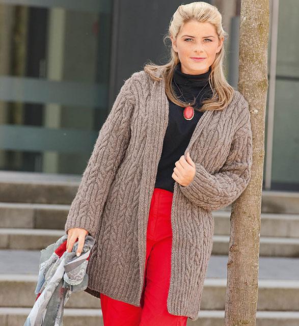 5 теплых кардиганов для полных женщин спицами схемы вязания с