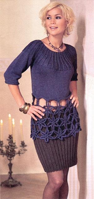Короткая юбка простой резинкой
