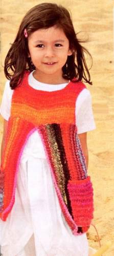 Детский сарафан-платье с карманами