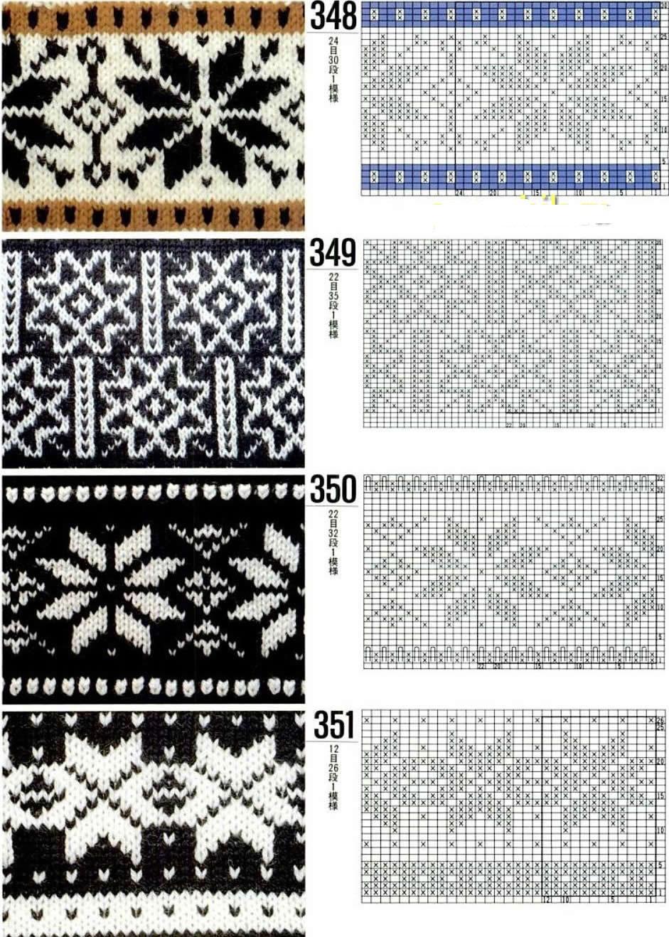 Схемы 4 узоров