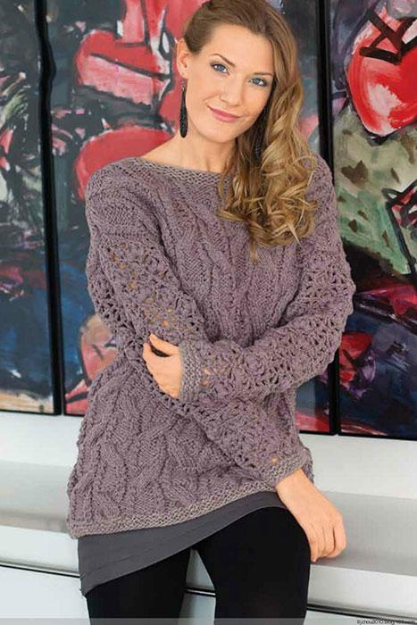 Женственный ажурный пуловер