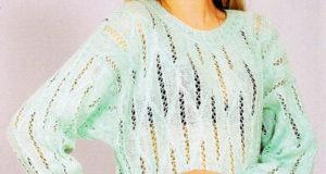 Ажурный пуловер из мохера