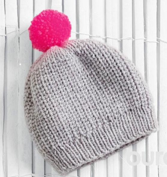 Как связать шапку полупатентной резинкой для женщин и мужчин