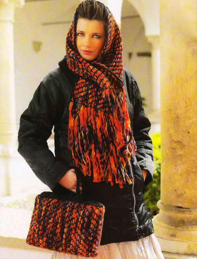 Комплект шарфа и сумки