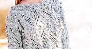 Укороченный пуловер с шишечками