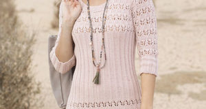 Платье с ажурной резинкой из хлопка