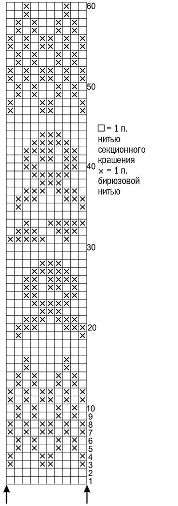 Схема жаккардового узора