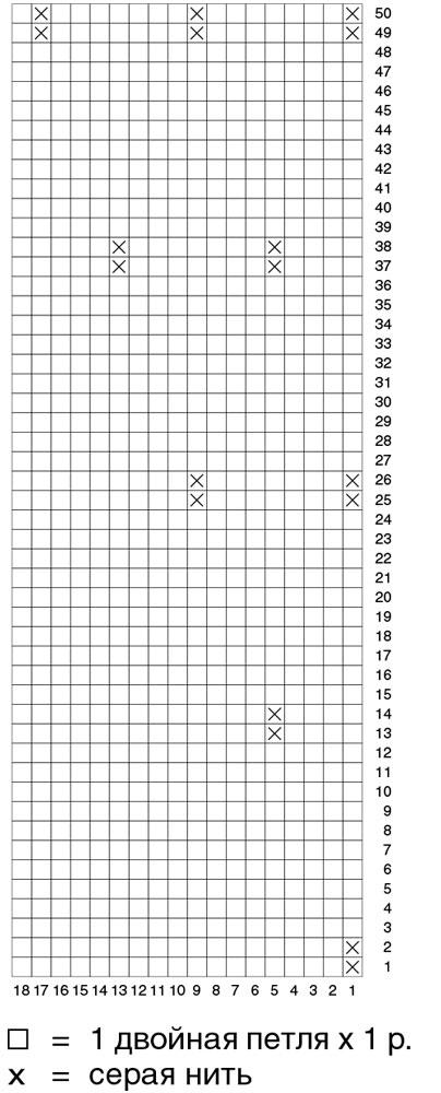 Схема узора из точек