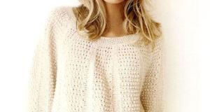 Нежный пуловер с рукавом реглан