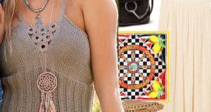 Топ на бретелях с декором из обвязанных колец спицами – описание вязания и идеи с чем носить
