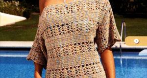Пляжная туника – платье прямого силуэта