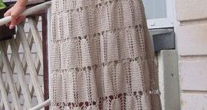 Стильная юбка связана крючком