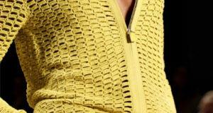 Желтый жакет с подиума на молнии