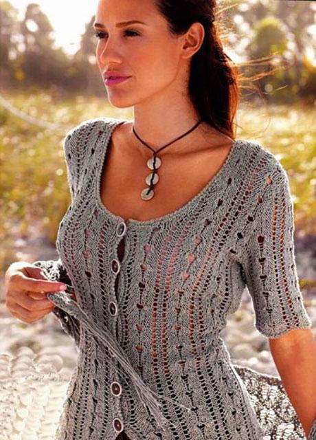 Летний жакет или блуза на пуговицах