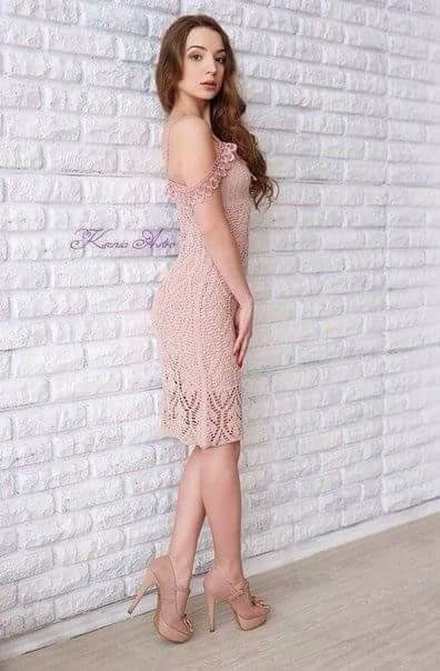 Платье «ажурные листики»
