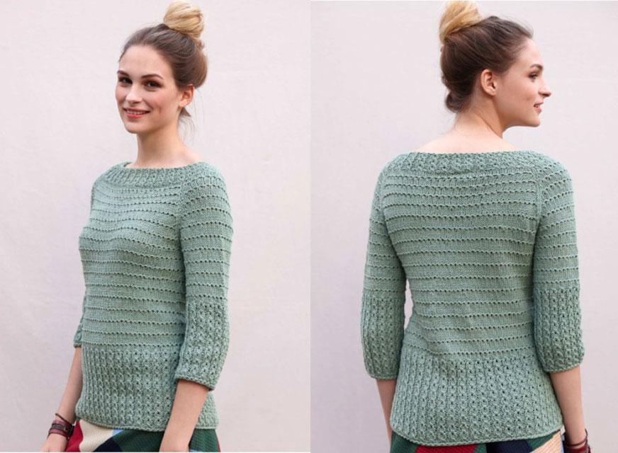 Детальное фото пуловера со всех сторон