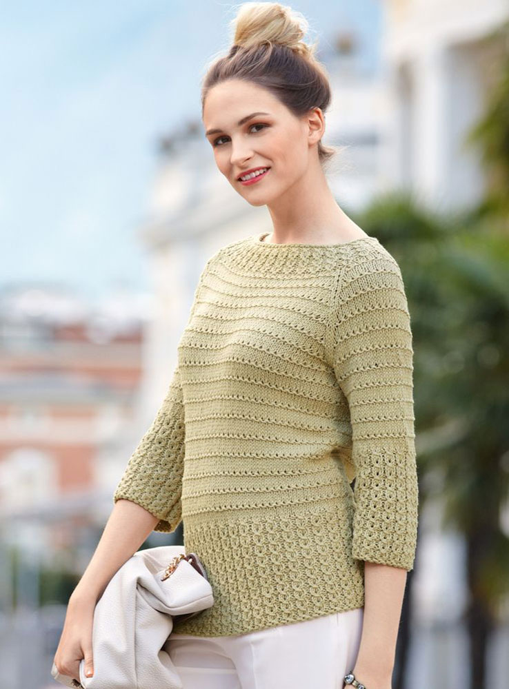 Пуловер с «косами» на планках