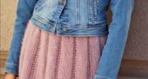 Пышная юбка с ажурным узором