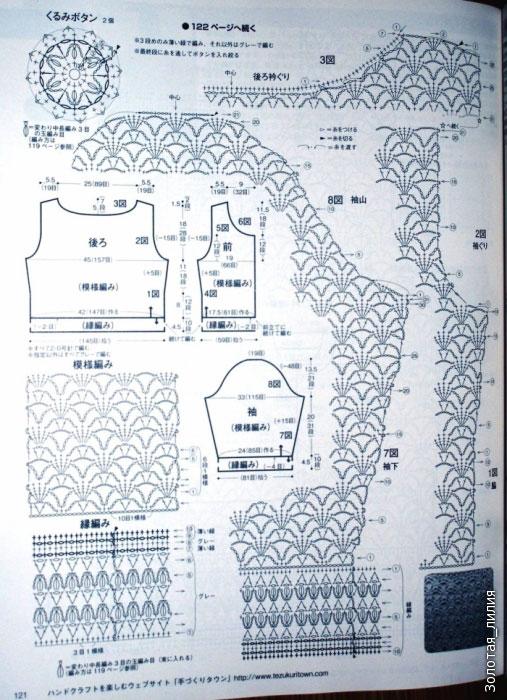 Схема на выкройке