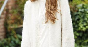 Жакет из мериноса с мохером с карманами