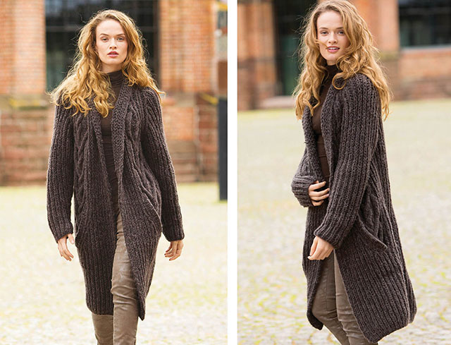 Темно-коричневое пальто для женщин