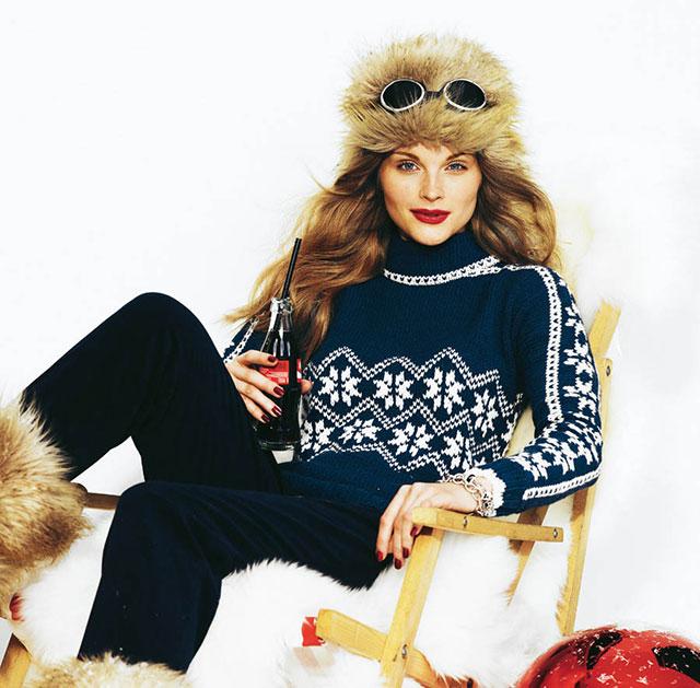 Синий свитер с норвежским узором Роза Сельбу