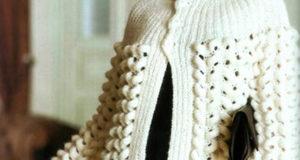 Жакет в стиле накидки кремового цвета