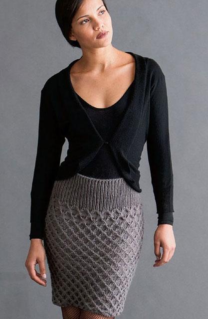 Бесшовная юбка узором соты от HANA JASON