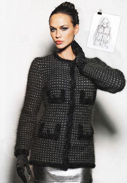Жакет с ложными карманами черного цвета