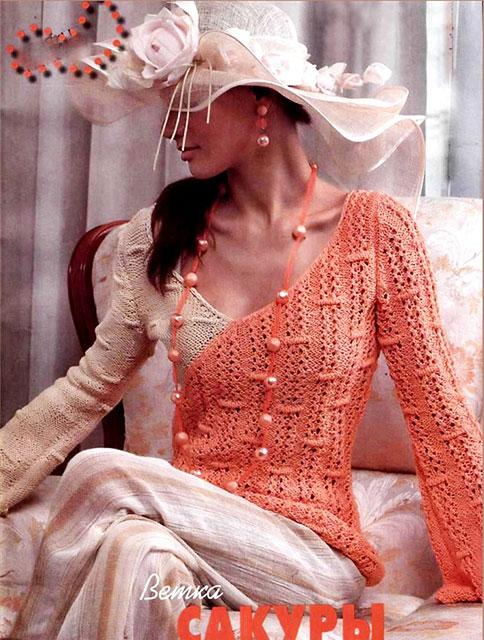 Пуловер имитирующий запах разным цветом