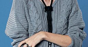 Свободный пуловер серого цвета