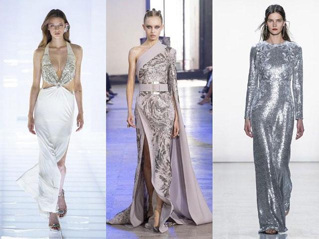 Серебристые платья