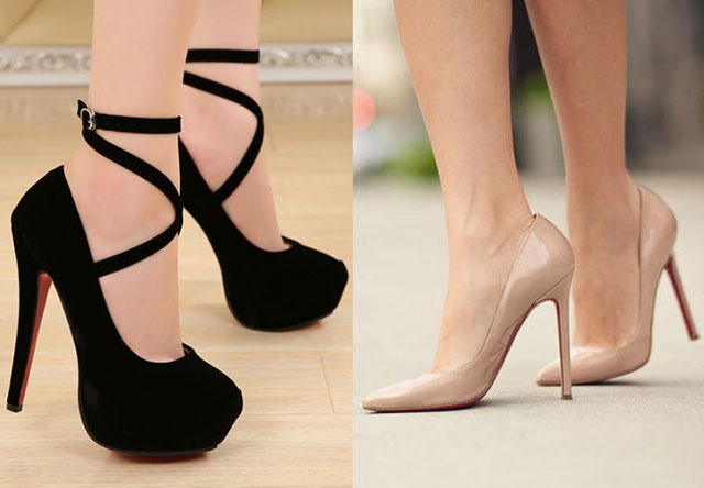 Черные или бежевые туфли