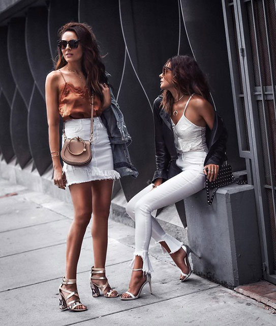 Белые джинсовые юбки
