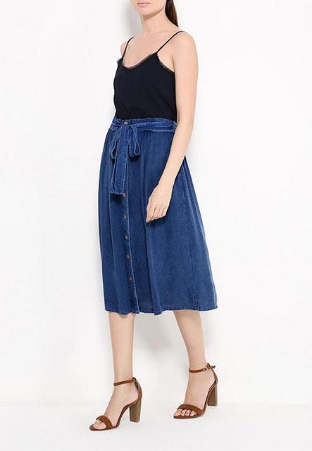 Расклешенные джинсовые юбки