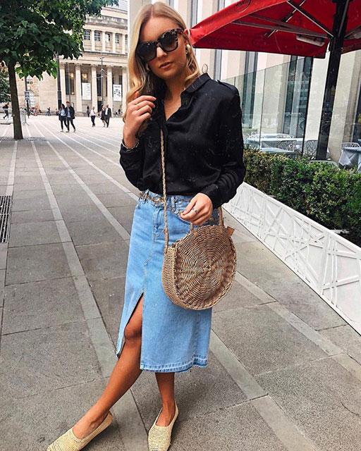 Модная джинсовая юбка 2020-2021 хит сезона