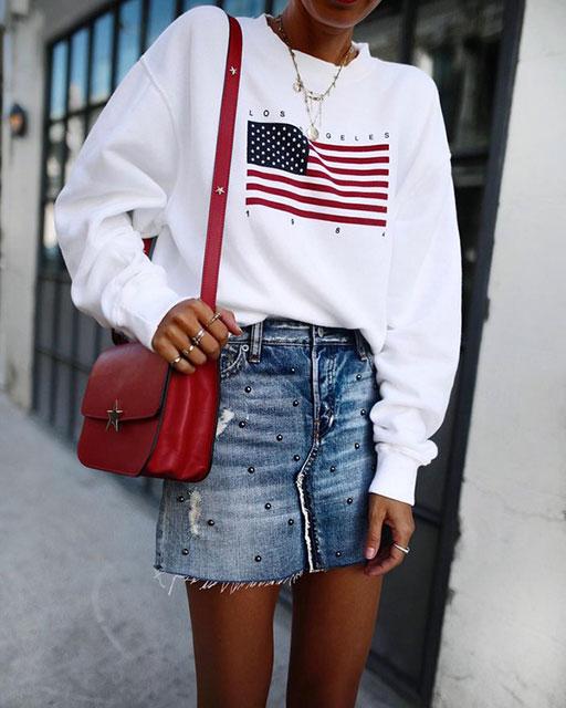 Джинсовые юбки с бусинами