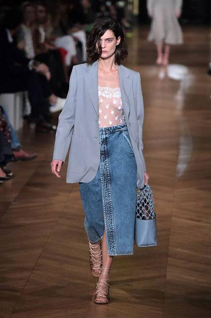 Винтажная джинсовая юбка-миди Stella McCartney