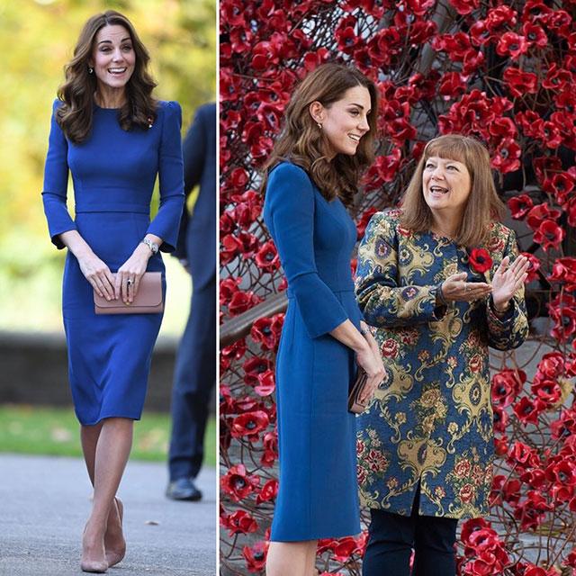Платье синего цвета на Любимый синий цвет Кейт Миддлтон