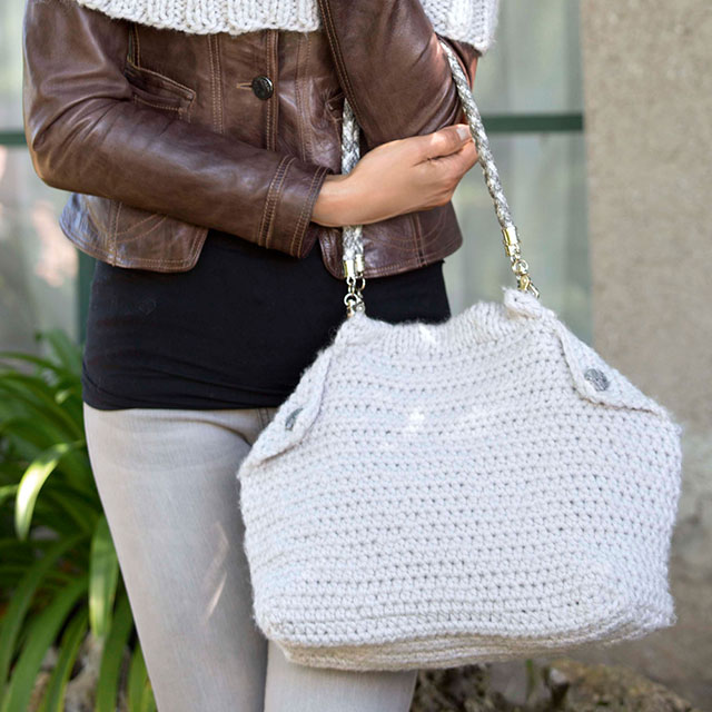 Вместительная сумка-шоппер с загнутыми уголками