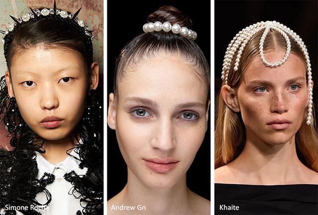Красивые жемчужные украшения для волос