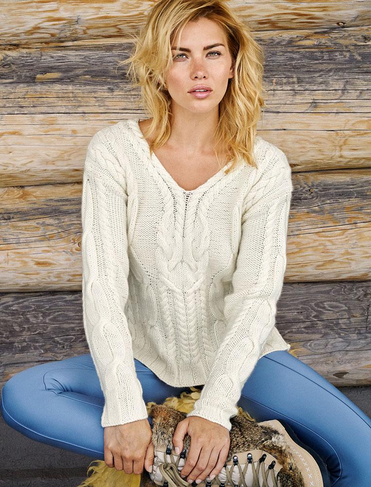 Пуловер из кашмирской шерсти белого цвета