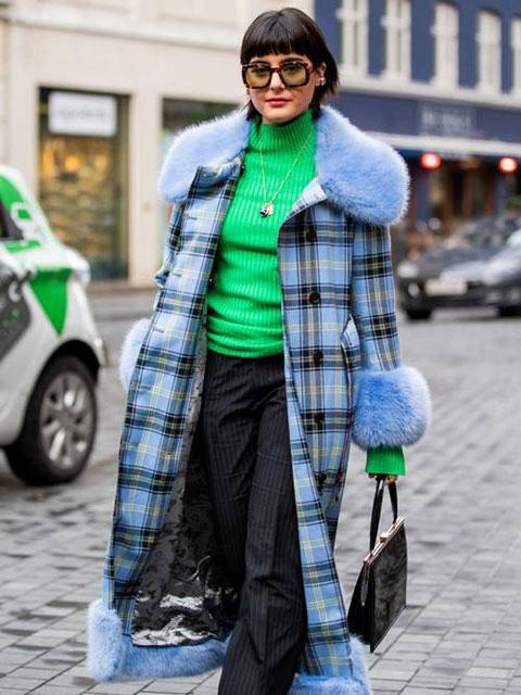 Пальто с отделкой из овечьей шерсти