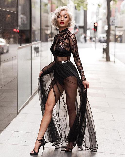 Прозрачная ткань на платье